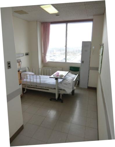 朝、石川県立中央病院に入院しました