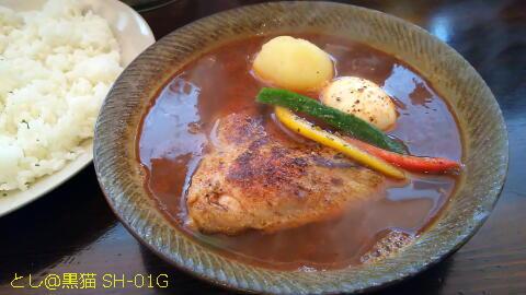 アナンダ やわらか炙り でかチキン スープカレー 4辛