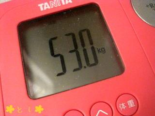 53.0kg 崖っぷち