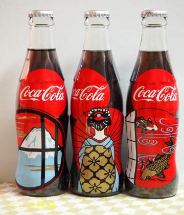 ジャパンデザイン(富士山柄、芸者柄、錦鯉柄)コカ・コーラ