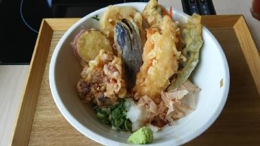 加賀野菜天ぷら ぶっかけうどん