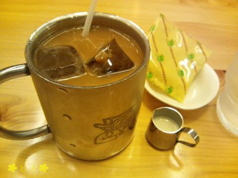 コメダ珈琲店で、アイスコーヒー
