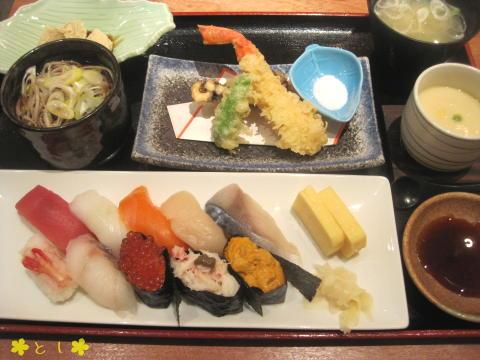 銀鱗のお寿司ランチ=神威
