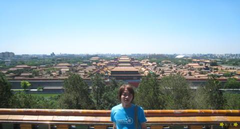 景山公園から見渡す故宮博物院