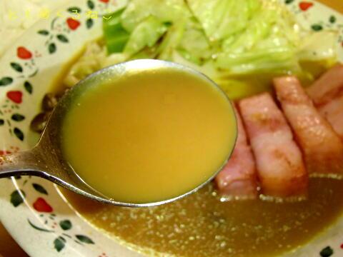 キャベツとベーコンとしめじのスープカレー