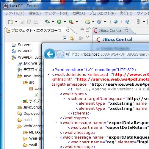 IE9上で、WSDLが表示されることを確認